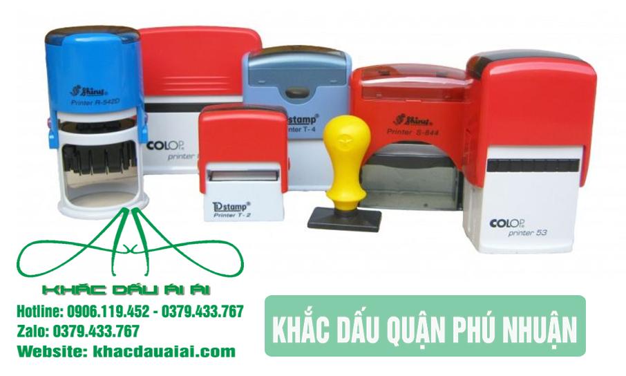 Dịch vụ khắc dấu quận Phú Thuận theo yêu cầu giá rẻ, nhanh chóng